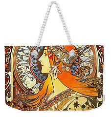 La Plume Zodiac Weekender Tote Bag by Alphonse Mucha