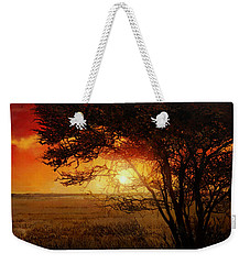La Savana Al Tramonto Weekender Tote Bag by Guido Borelli