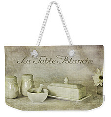 La Table Blanche - The White Table Weekender Tote Bag