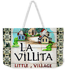 La Villita Tile Sign On The Riverwalk San Antonio Texas Watercolor Digital Art Weekender Tote Bag