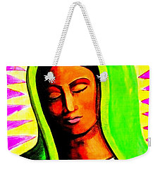 Weekender Tote Bag featuring the painting Tonantzin by Michelle Dallocchio