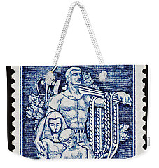 Labor Day Vintage Postage Stamp Print Weekender Tote Bag