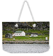 Weekender Tote Bag featuring the photograph Labrador Fish Camp by Ben Shields