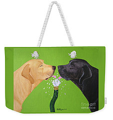 Labs Like To Share 2 Weekender Tote Bag