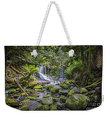 Weekender Tote Bag featuring the photograph Lady Barron Falls II by Ray Warren