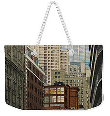 Weekender Tote Bag featuring the drawing Labyrinth by Meg Shearer