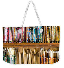 Lace Bobbins Weekender Tote Bag by Liz  Alderdice