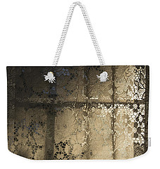 Weekender Tote Bag featuring the photograph Lace Curtain 1 by Jocelyn Friis