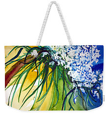 Weekender Tote Bag featuring the painting Lace by Lil Taylor