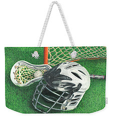 Lacrosse Weekender Tote Bag by Troy Levesque