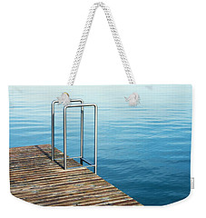Weekender Tote Bag featuring the photograph Ladder by Chevy Fleet