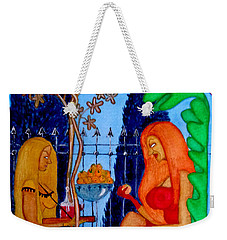 Weekender Tote Bag featuring the painting Lady And Her Maid by Don Pedro De Gracia