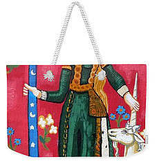 Lady And The Unicorn La Pointe Weekender Tote Bag by Genevieve Esson