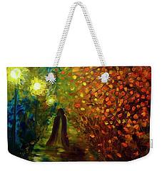 Lady Autumn Weekender Tote Bag