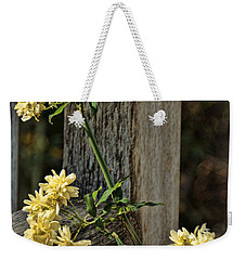Lady Banks Rose Weekender Tote Bag by Peggy Hughes