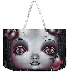 Lady Bug Girl Weekender Tote Bag by Abril Andrade Griffith