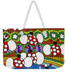 Lady Bugs Weekender Tote Bag by Rojax Art