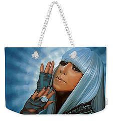 Lady Gaga Painting Weekender Tote Bag by Paul Meijering