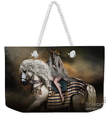 Weekender Tote Bag featuring the digital art Lady Godiva by Shanina Conway