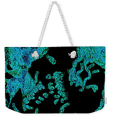 Lady In Blue Weekender Tote Bag