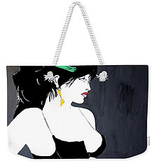 Weekender Tote Bag featuring the painting Lady In Bra by Nora Shepley