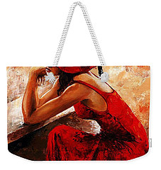 Lady In Red 21 Weekender Tote Bag
