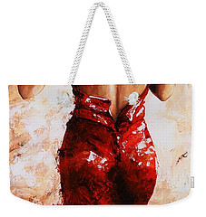Lady In Red #24 Large  Weekender Tote Bag