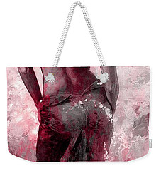 Lady In Red #27 Digital Colored Version Red Weekender Tote Bag