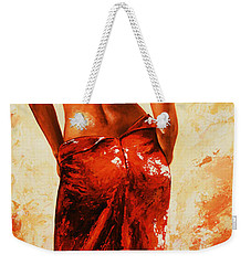 Lady In Red 27re Large  Weekender Tote Bag by Emerico Imre Toth