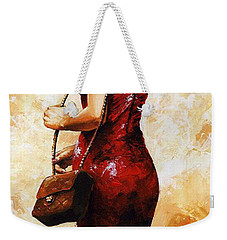 Lady In Red  30 Weekender Tote Bag