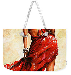 Lady In Red 40 Weekender Tote Bag by Emerico Imre Toth