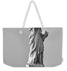 Lady Liberty Black And White Weekender Tote Bag