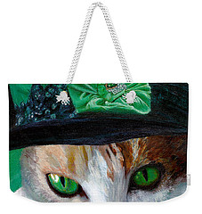 Lady Little Girl Cats In Hats Weekender Tote Bag