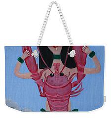 Lady Lobster Weekender Tote Bag by Lorna Maza