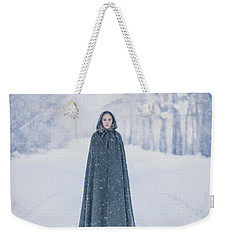 Lady Of The Winter Forest Weekender Tote Bag
