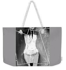 Weekender Tote Bag featuring the digital art Lady by Ann Calvo