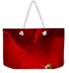 Ladybird In Rose Weekender Tote Bag