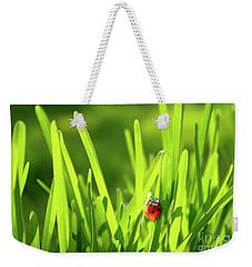 Ladybug In Grass Weekender Tote Bag