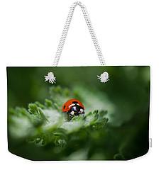 Ladybug On The Move Weekender Tote Bag by Jordan Blackstone
