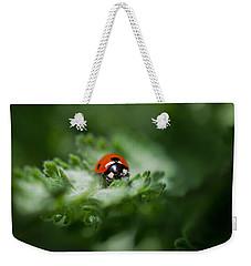 Ladybug On The Move Weekender Tote Bag