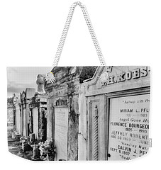 Lafayette Cemetery Black And White Weekender Tote Bag