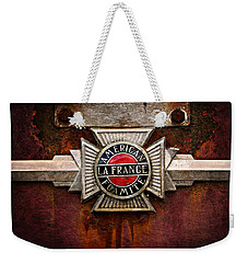 Lafrance Badge Weekender Tote Bag by Mary Jo Allen