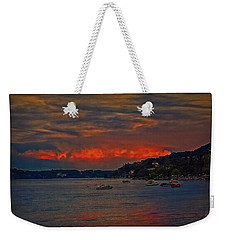 Weekender Tote Bag featuring the photograph Lago Maggiore by Hanny Heim