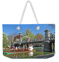 Lagoon Bridge And Swan Boat Weekender Tote Bag