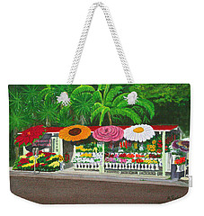 Laguna Beach Flower Stand Weekender Tote Bag by Mike Robles