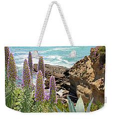 Laguna Coast With Flowers Weekender Tote Bag