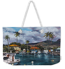 Weekender Tote Bag featuring the painting Lahaina Harbor by Darice Machel McGuire