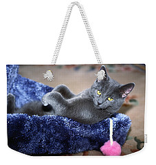Weekender Tote Bag featuring the photograph Laid Back by Sally Weigand