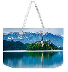 Lake Bled Island Church Weekender Tote Bag