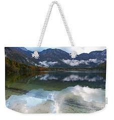 Lake Bohinj - Reflections Weekender Tote Bag by Phil Banks